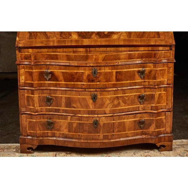 18th Century Italian Baroque Walnut and Fruitwood Secretary For Sale - Image 4 of 9