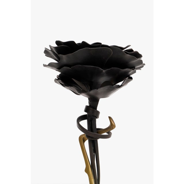 Pair of Albert Paley Blossom Candle Holders - Image 4 of 8