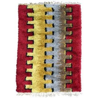 Midcentury Swedish Rya Rug For Sale