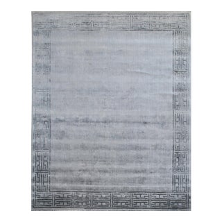 Hand-Knotted Contemporary Wool Rug - 5′4″ × 10′ For Sale