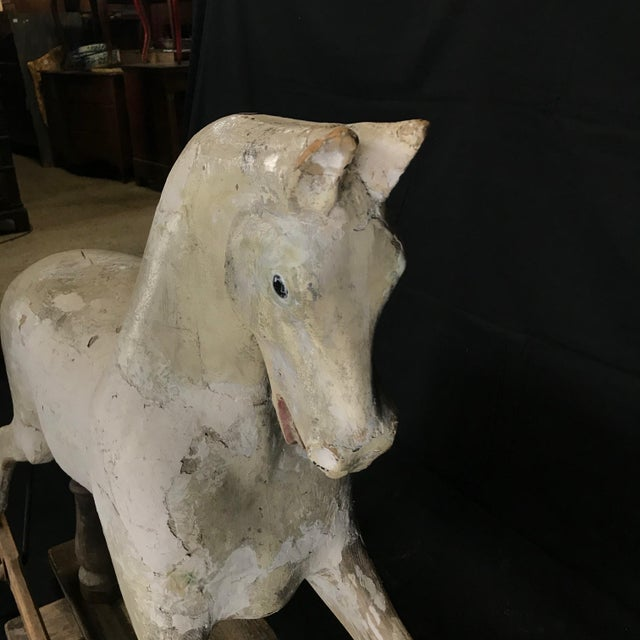 Mid 19th Century British Carved and Painted Wood Merry-Go-Round Carousel Horse For Sale - Image 9 of 13