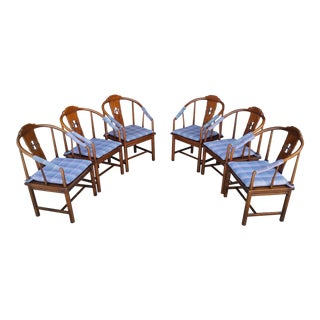 Vintage Henredon Ming Style Dining Chairs - Set of 6 For Sale