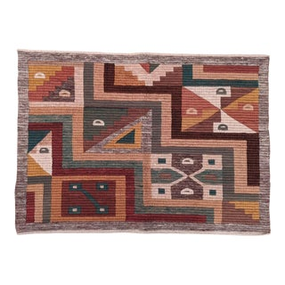 Modernist Boho Chic Graphic Weaving From Peru For Sale