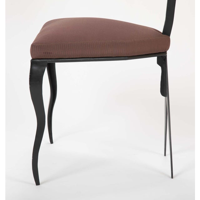 Upholstered Steel Frame Chairs by Joaquin Gasgonia Palencia - Set of 4 For Sale - Image 11 of 13