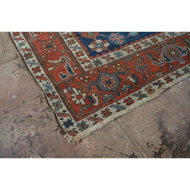 Red Caucasian Kazak Tribal Design Runner Rug - 4′ × 12′11″ For Sale - Image 8 of 10