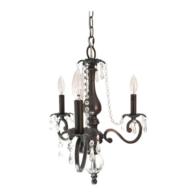 3 Arm Chandelier with Crystal Details - Image 1 of 6