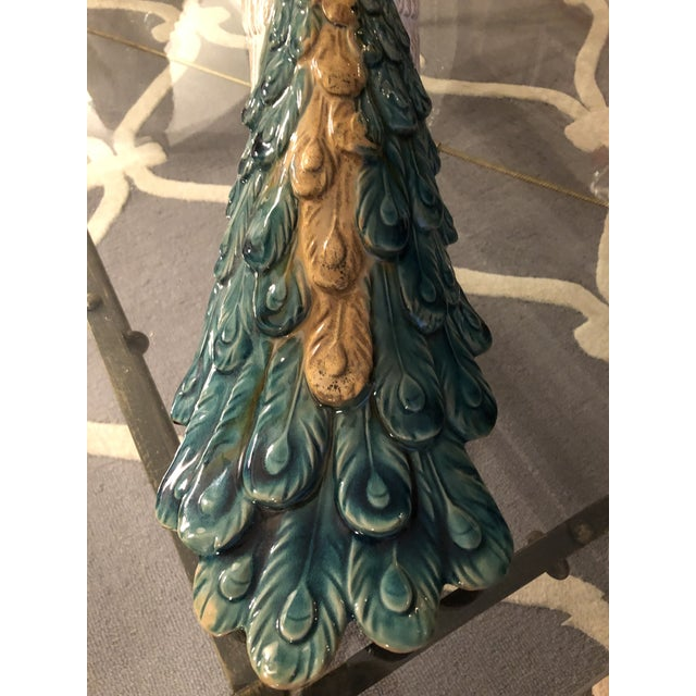 Ceramic Chinoiserie Porcelain Peacock Figurine For Sale - Image 7 of 8