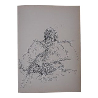 1964 Vintage Giacometti Lithograph for Derriere Le Miroir For Sale