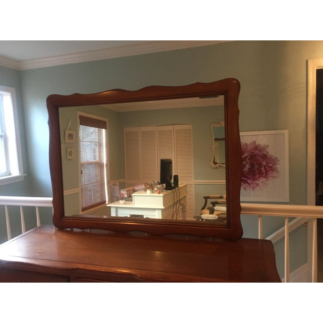 Vintage French Provincial Dresser with Mirror - Image 10 of 11