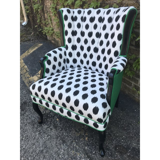 Modern Vintage Modern Funky Ikat Chair For Sale - Image 3 of 8