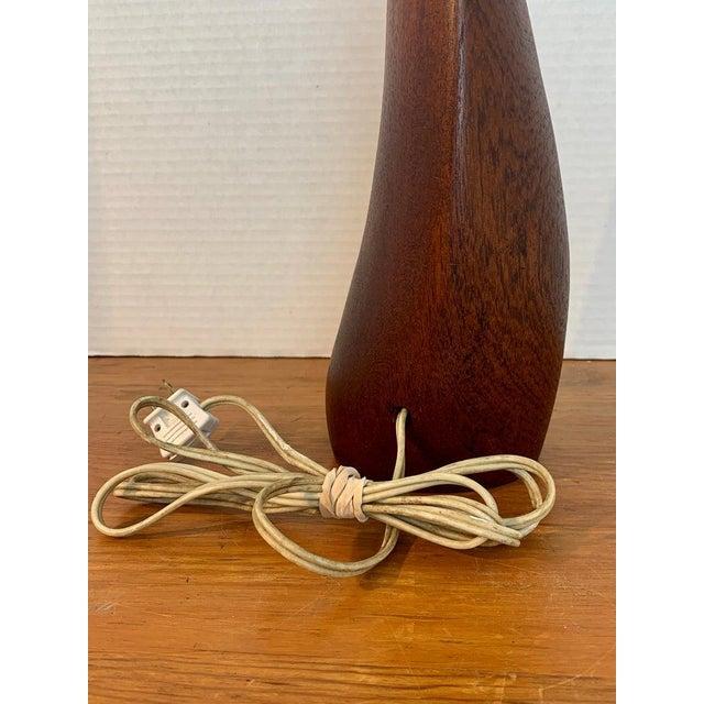 Danish Modern Sculptural Teak Lamp, Attributed to Ernst Henriksen For Sale - Image 9 of 12