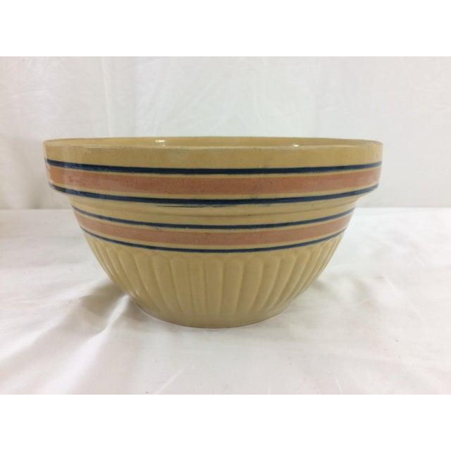 Medium Autumn Yellow Weller Dough Bowl For Sale - Image 6 of 6