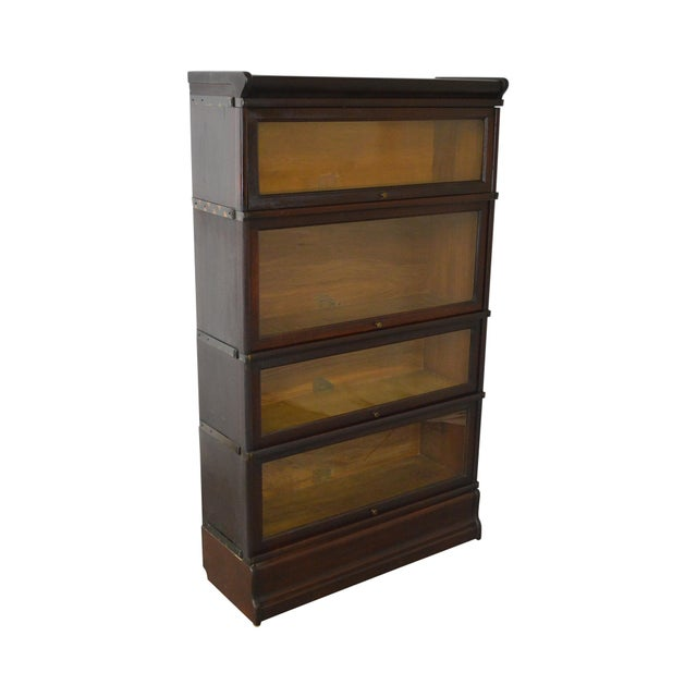 Globe Wernicke Antique Mahogany 4 Section Barristers Stacking Bookcase - Image 13 of 13
