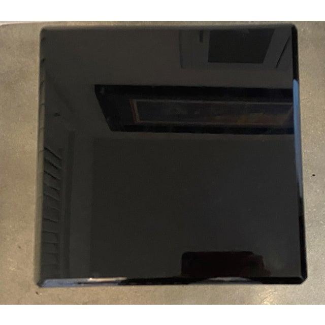 "Contemporary Vintage Pedestal Black Lucite 20.5"" High For Sale - Image 3 of 8"