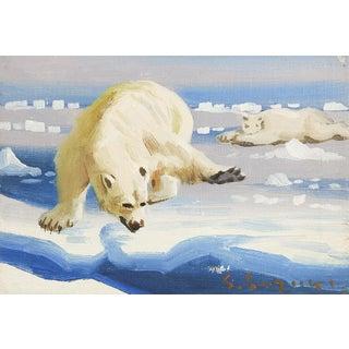 Polar Bear Oil Painting For Sale