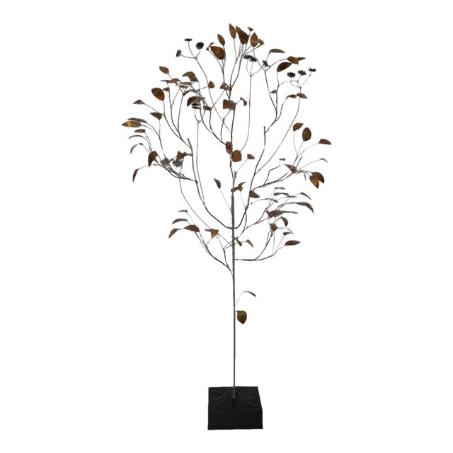 1960s Copper Metalwork Free Standing Tree by Curtis Jere For Sale