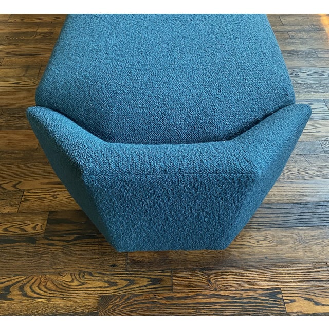 Blue Aspire Show House Baker Diamond Chaise For Sale - Image 8 of 10