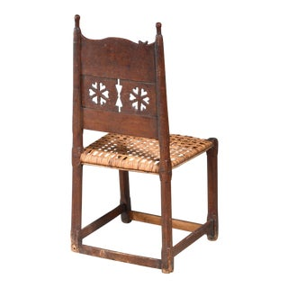 Folk Art Side Chair, Sweden, 18th/19th Century For Sale
