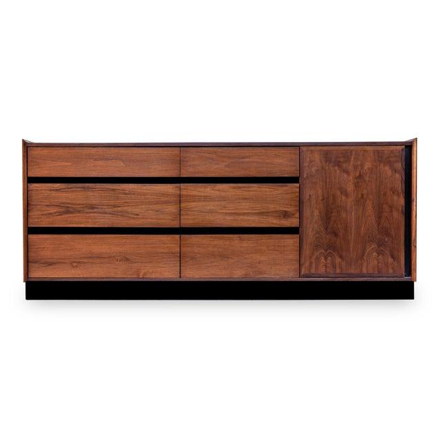 Dillingham Esprit Walnut Dresser For Sale - Image 9 of 9