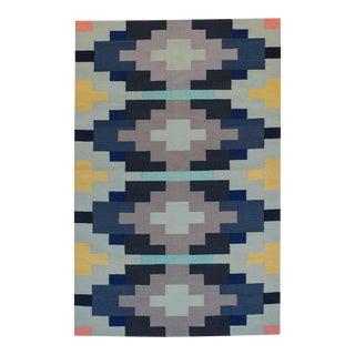 Aelfie Flat Woven Dhurrie Geometric Navajo Style Rug - 4' x 6'