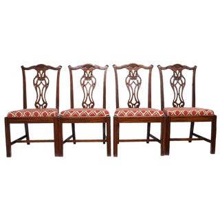 1960s Chippendale Style Dining Chairs - Set of 4