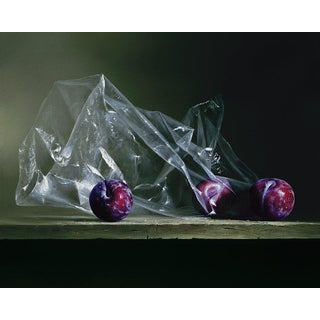 """""""Plums in Plastic"""" Contemporary Giclee by Dario Campanile For Sale"""