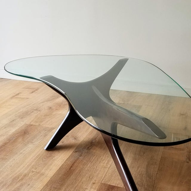 1960s Adrian Pearsall Model 1465-T Boomerang Walnut Coffee Table, Unmarked For Sale - Image 11 of 13