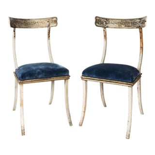 19th Century Swedish Klismos Chairs - a Pair For Sale