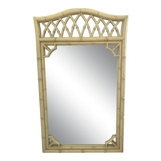 Mid 20th Century Thomasville Chinoiserie Faux Bamboo Mirror For Sale