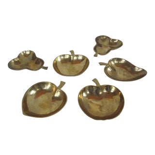 Brass Nut Dishes-6 Pieces For Sale
