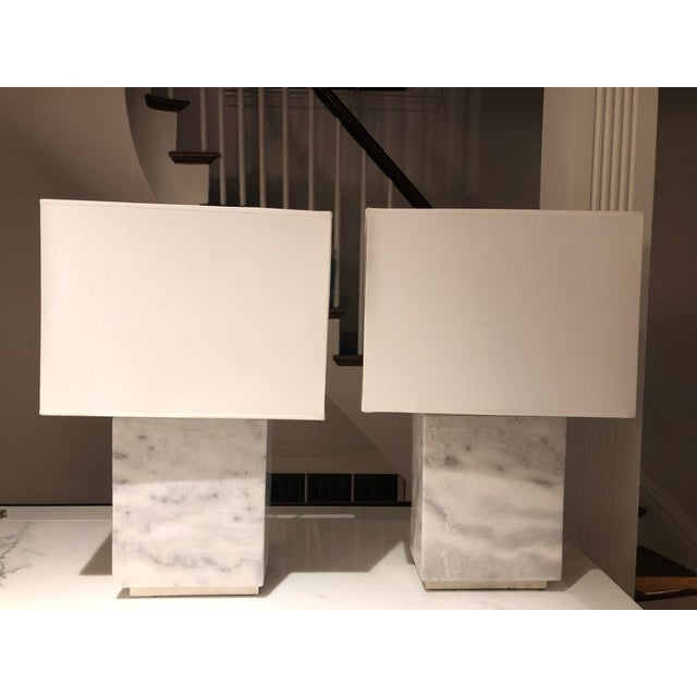Gray Ralph Lauren Granite Lamps - a Pair For Sale - Image 8 of 8