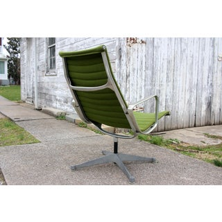 1980s Eames Herman Miller Green Aluminum Group Lounge Chair Preview