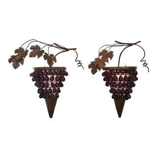 Italian Glass and Metal Grape Wall Art
