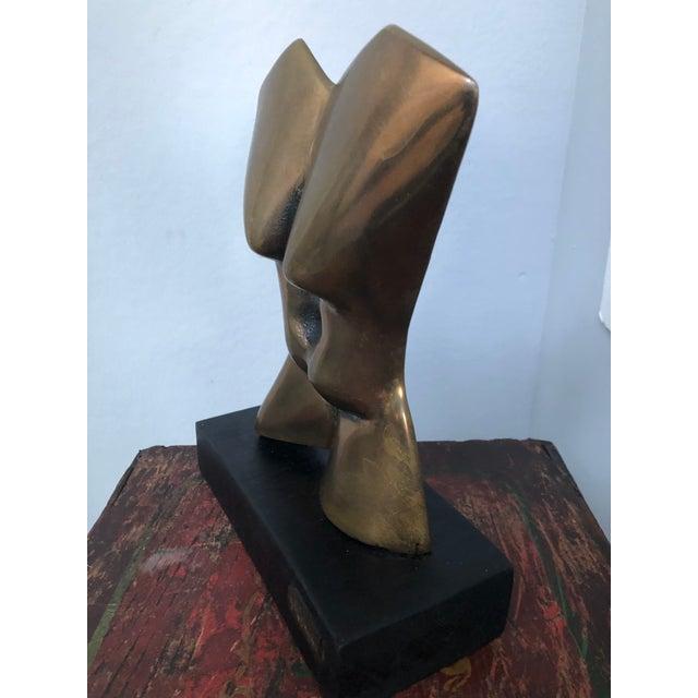 1970s Original Vintage Israeli Bronze Female Nude Torso Sculpture Signed Mid Century Modern For Sale - Image 5 of 8