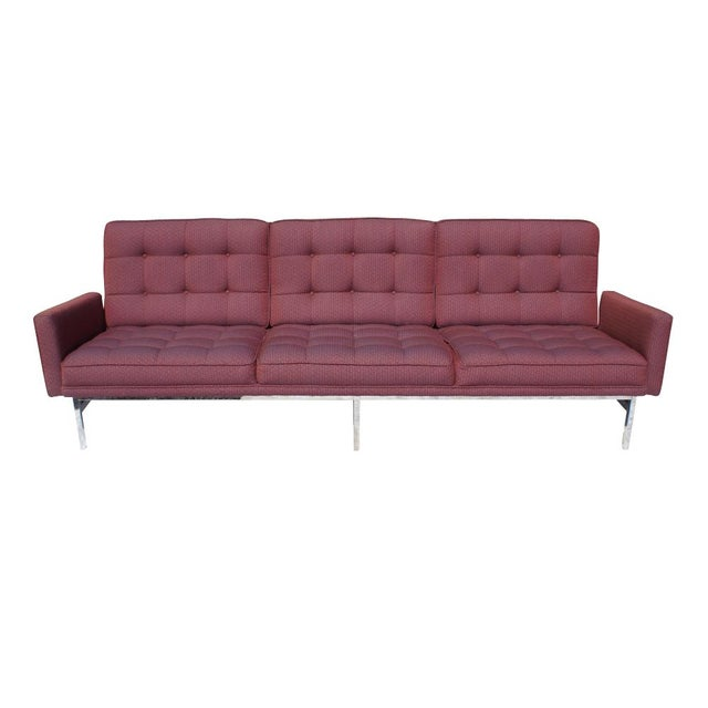 Florence Knoll Burgundy Sofa - Image 2 of 6