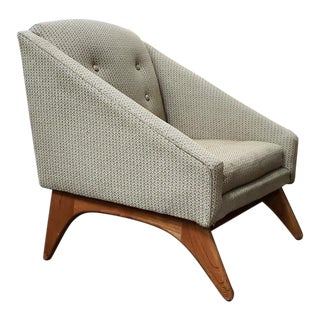 Adrian Pearsall Mid Century Upholstered Teak Frame Chair C.1960s For Sale