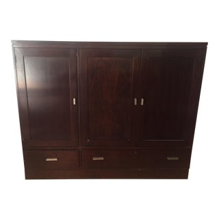 Transitional Stickley Metropolitan Media Console For Sale