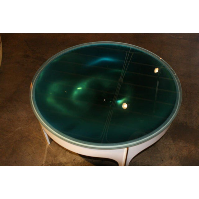 Mid-Century Modern ma+39's Custom Ivory Magnifying Lens Coffee Table For Sale - Image 3 of 7