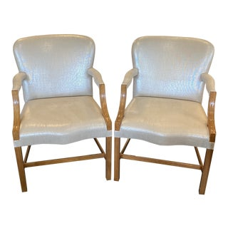 Rose Tarlow Custom Chippendale Arm Chair - a Pair For Sale
