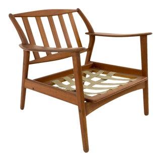 Mid Century Modern Danish Teak Lounge Chair Frame For Sale