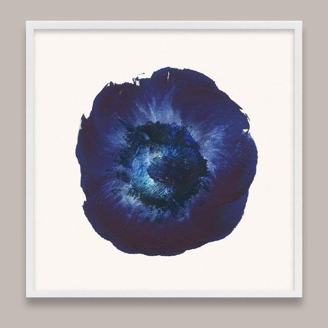 Molly Frances Framed Blue Abstract Prints - Set of 6 For Sale - Image 4 of 9