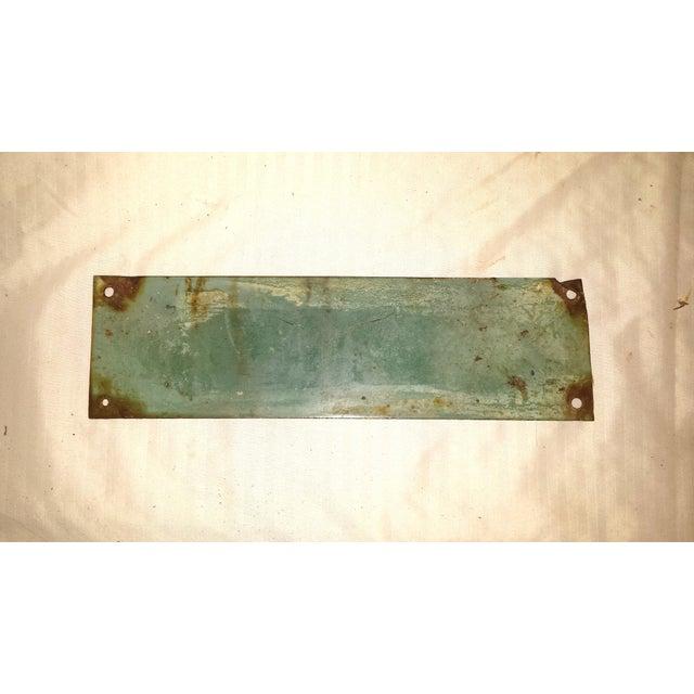 Vintage Green Porcelain High Voltage Sign - Image 3 of 6