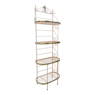 Iron & Brass Baker's Rack