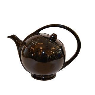80s Stoneware Black Tea Pot For Sale