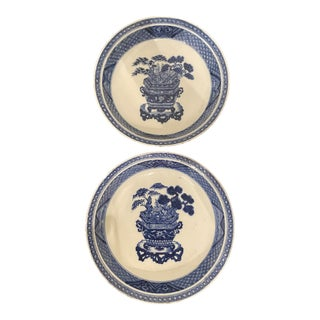 Antique Chinese Porcelain Plates/Bowls With Chenghua 6-Character Mark - a Pair For Sale
