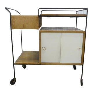 Mid Century Modern Arthur Umanoff for Raymor Bar Cart For Sale