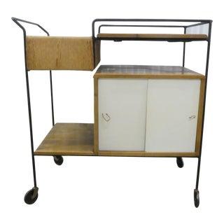 Mid Century Modern Arthur Umanoff for Raymor Bar Cart For Sale
