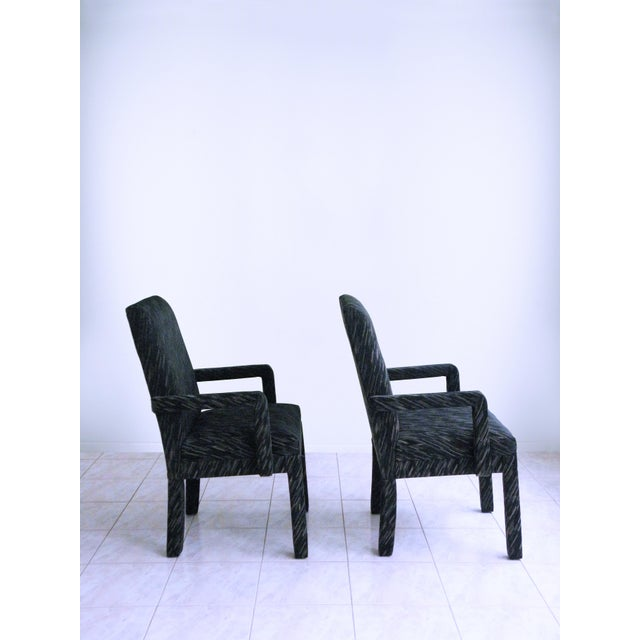 Contemporary 1980s Vintage Parsons Armchairs- A Pair For Sale - Image 3 of 7