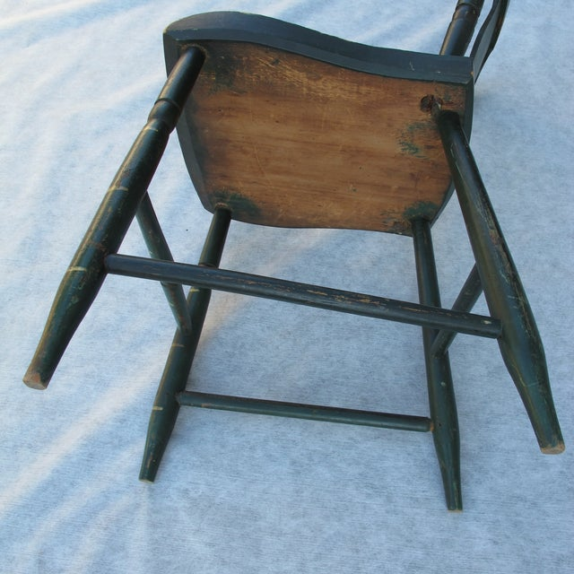 Antique Painted Pennsylvania Plank Chairs - S/6 - Image 5 of 11