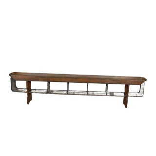 JW Custom Line Bench with Wire Baskets For Sale